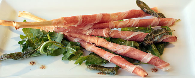 Grilled asparagus with prosciutto and shaved parmesan